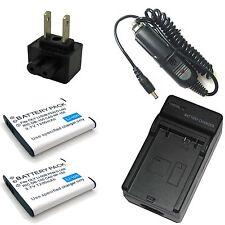 Charger + 2x Battery for Olympus u 1010 u 1020 u 1030 u 1030 SW u 9000 u 9010