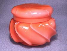 1961-2 Fenton Glass WILD ROSE Cased Wave Crest Candy Box -Ltd Production Color!!