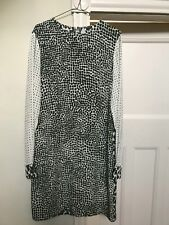 Stunning Stella McCartney Silk Dotted Animal Print Dress - Size 44 Green, White