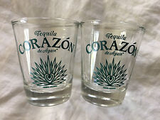 SET OF 2 CORAZON TEQUILA SHOT GLASSES!! Unbelievably Cool!!