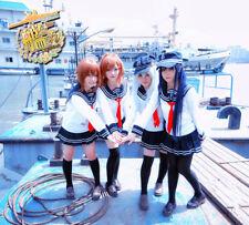 Anime Women's Men's Skirt Uniform Kantai Collection Hibiki Outfit Cosplay Gift