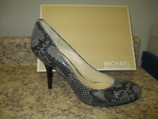 Michael Kors Pressley Pump 10 M Gray Snake Leather Upper New with Box