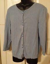 WOMEN'S JUDITH HART Cardigan Sweater 3/4 Sleeves Blue Sz XL