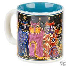 Laurel Burch Bright Feline Family Cats Ceramic Coffee Tea Artistic Mug 14oz New
