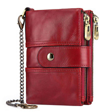 TEUEN Womens Purse Wallet RFID Blocking Real Leather Ladies Purses with Chain 16