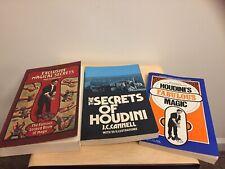 Lot of 3 - Harry Houdini Vintage Magic Books