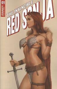 INVINCIBLE RED SONJA #1 COVER C CELINA VF/NM 2021 DYNAMITE HOHC