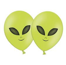 "Alien Face 12"" Latex Green Balloons UFO Si-Fi theme by PARTY DECOR Pack of 25"