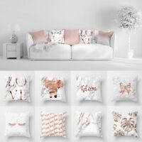 Bronzing Golden Letters Throw Sofa Pillow Case Car Cushion Cover Home Decor