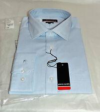 "NEW (16""/41 cm) Pierre Cardin LT BLUE PINSTRIPE Cotton Twill SHIRT - RRP £50"