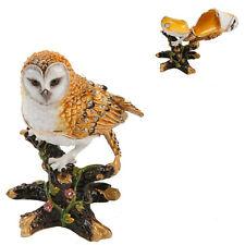 Treasured Trinkets Owl on Branch Metal Die Cast Trinket Gift Box 15213