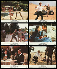 FOR YOUR EYES ONLY (1981) ORIGINAL SET OF 6 LOBBY CARDS REISSUED IN 1984