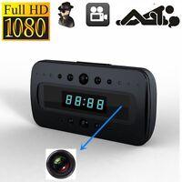 1080P IP Spy Hidden Security Camera Motion Alarm Clock IR WebCam + Remote