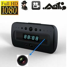 HD 1080P SPY Hidden Camera Clock IR Night Vision Motion Detection Mini DV+Remote