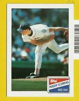 1988 Roger Clemens topps Bazooka CARD #4 Vintage Baseball Boston Red Sox NR-MT