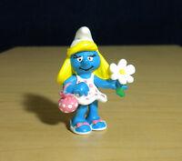 Smurfs 20421 Smurfette Holding Flower & Purse Smurf Vintage Figure PVC Figurine