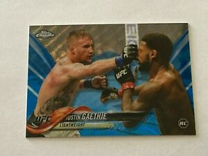 Justin Gaethje 2018 Topps Chrome UFC Blue Wave Refractor Parallel Card #71 /75