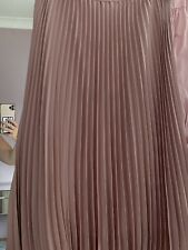marks and spencer Pink Lined Pleated Skirt (12)