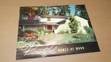 VINTAGE 50's BEAUTIFUL HOMES OF WOOD BROCHURE HOME DESIGN EXTERIOR INTERIOR 50'S