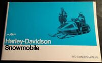 VINTAGE 1972 AMF HARLEY-DAVIDSON SNOWMOBILE OWNERS MANUAL NEW (459)