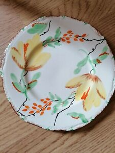 """Vintage - Parrot & Company -  Coronet Ware  - 9""""  Floral Plate"""