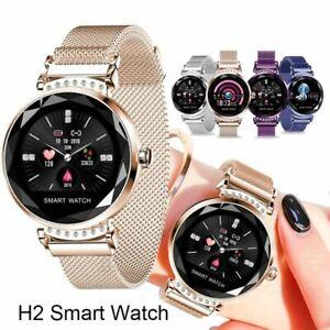 H2 Smart Watch Women 3D Diamond Glass Heart Rate Blood Pressure Sleep Monitor