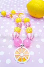 Pink Lemonade Bubblegum Chunky Necklace