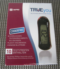 1 x Trueyou  Blutzuckermessgerät mini Set mg/dL dazu 1 x 10 St Teststreifen