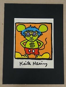 Parentesigrafica presenta: KEITH HARING - Andy Mouse drawing 1986 (A2021/L041)