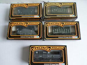 5 OO Gauge Mainline Railways wagons