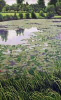 "Gordon Mortensen ""Lily Pond"" Hand Signed & Numbered Woodcut Art 1985 Make Offer!"