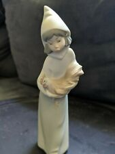 Lladro girl with rooster