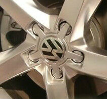 4x WHEEL BADGES CENTER CAPS VOLKSWAGEN VW LOGO 4F0601165N AUDI ALLOY 5 star SET