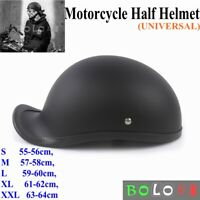 New Motorcycle Safety Half Helmet Skull Cap Hat For Chopper Bobber Biker - ABS
