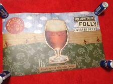 new belgium brewing folly beer craft microbrew banner sign bar advertising