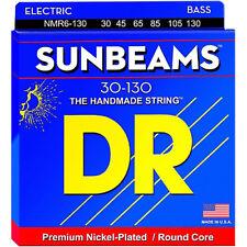 DR NMR6-130 SunBeams BASS Guitar Strings  6-string medium w/130 gauge 30-130