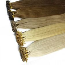 1g/s 100g Straight Capsule Keratin Flat tip Human Hair Extensions 16inch-22inch