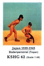 HECKER GOROS KSHG 62 - BODENPERSONAL (TROPEN) JAPAN 1939-45 - 1/48 WHITE METAL