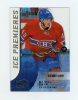 15/16 UPPER DECK ICE ROOKIE RC #158 DANIEL CARR 1230/1499 CANADIENS *58291