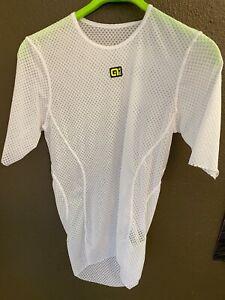 Alé Cycling Velo Active Short Sleeve Summer Baselayer - White - Men's Medium