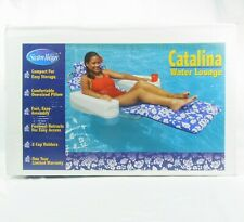 SwimWays Catalina Pool Lounger Swimming Float Chair Inflatable Head and Footrest