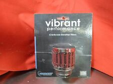 Vibrant 2164 Crankcase Breather Filter Clamp On Round Chrome 3/4 in inlet
