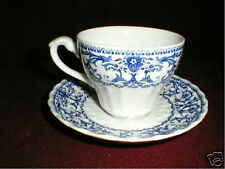 J G Meakin Blue FORUM Cup Saucer Set/s