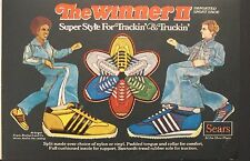 1977 Sears Winner II Tennis Shoes Mens, Boys Fashion~Sports Memorabilia Promo Ad