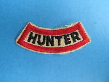 Vintage Hunter Outdoor Sporting Hunting Jacket Patch