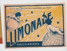 Ancienne étiquette boisson Limonade   France  Enfant