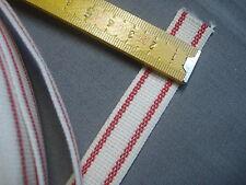 2 m sangle en coton 20 mm rouge et blanche