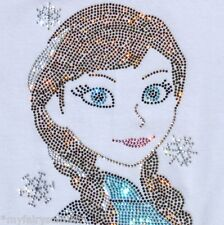 Frozen ANNA Disney iron-on rhinestone transfer applique patch DIY decal