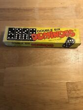 Vintage Double Six Dominoes 28 Pieces Made In Taiwan