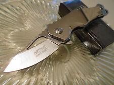 Mtech Ballistic Assisted Open All Chrome Shuffler Pocket Knife Cap Lifter 882SCH